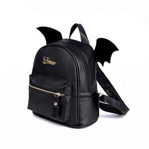 Bat Wings Backpack - Small Black Purse - Perfenq
