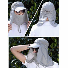 Load image into Gallery viewer, Cap With Neck Flap - 360 Degree UV Protection Cap - Perfenq