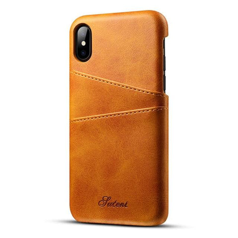 iPhone XS, XS Max & XR Slim PU Leather Case (Now for all iPhones) - Perfenq