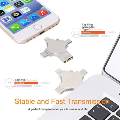 Image of 4 in 1 USB Drive for All Devices (iOS, Android, Windows, MAC, Linux)