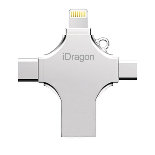 4 in 1 USB Drive for All Devices (iOS, Android, Windows, MAC, Linux)