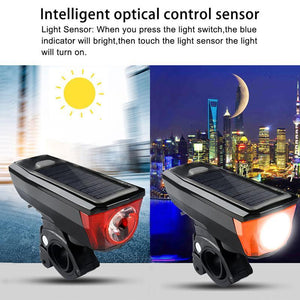 Multi-Function Solar Power Bike Light