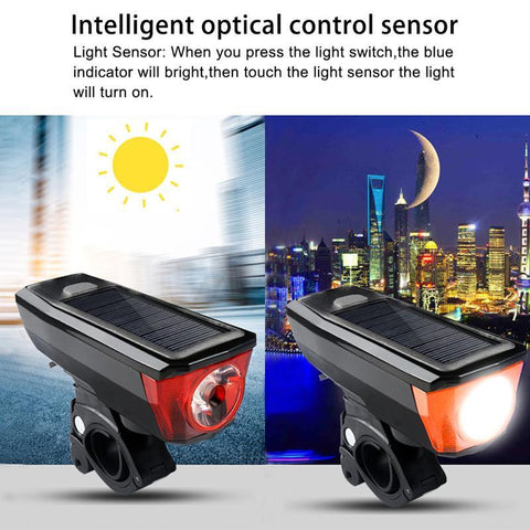 Image of Multi-Function Solar Power Bike Light - Perfenq