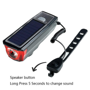 Multi-Function Solar Power Bike Light - Perfenq