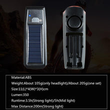 Load image into Gallery viewer, Multi-Function Solar Power Bike Light - Perfenq
