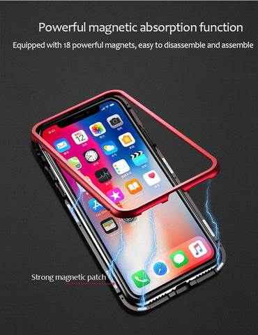 Luxury Magnetic Adsorption Case for iPhone - Perfenq