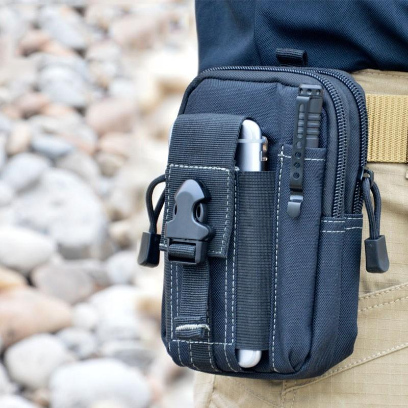 "Universal Tactical Waist Belt Bag / Pouch / Wallet (For Up to 6.2"" Phones)"