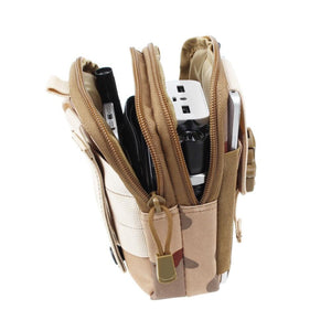 "Universal Tactical Waist Belt Bag / Pouch / Wallet (For Up to 6.2"" Phones) - Perfenq"