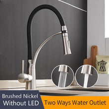 Load image into Gallery viewer, LED Kitchen Faucets with Rubber Design Chrome - Perfenq