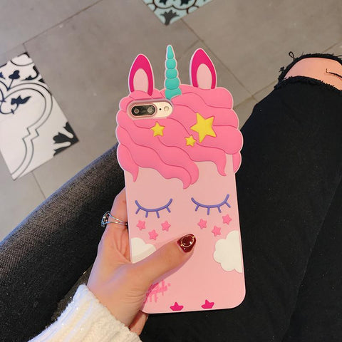 Image of 3D Unicorn Phone Case for iPhone & Samsung Galaxy Smartphones - Perfenq