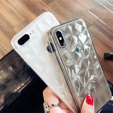 Load image into Gallery viewer, Diamond Texture Transparent iPhone Case - Perfenq