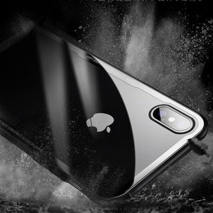 iPhone XS, XS Max, XR Tempered Glass Case with Soft Silicone Edge - Perfenq