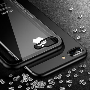 iPhone XS, XS Max, XR Tempered Glass Case with Soft Silicone Edge