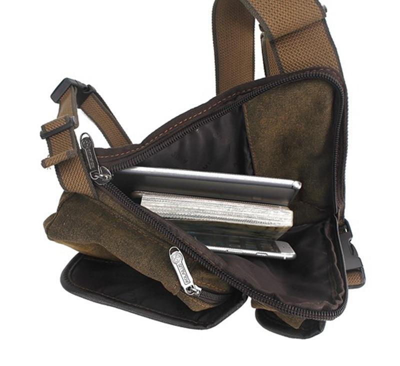 Multi-Purpose Canvas Motorcycle Leg Bag - Perfenq