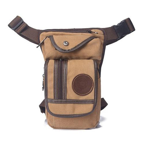 Image of Multi-Purpose Canvas Motorcycle Leg Bag - Perfenq