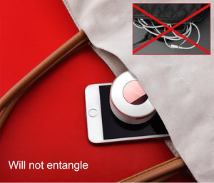3 in 1 Retractable Cable with Mirror & Phone Stand - Perfenq