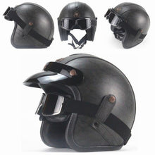 Load image into Gallery viewer, Premium Pu Leather Helmet - Perfenq
