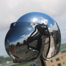Load image into Gallery viewer, Premium Silver Chrome Helmet - Perfenq