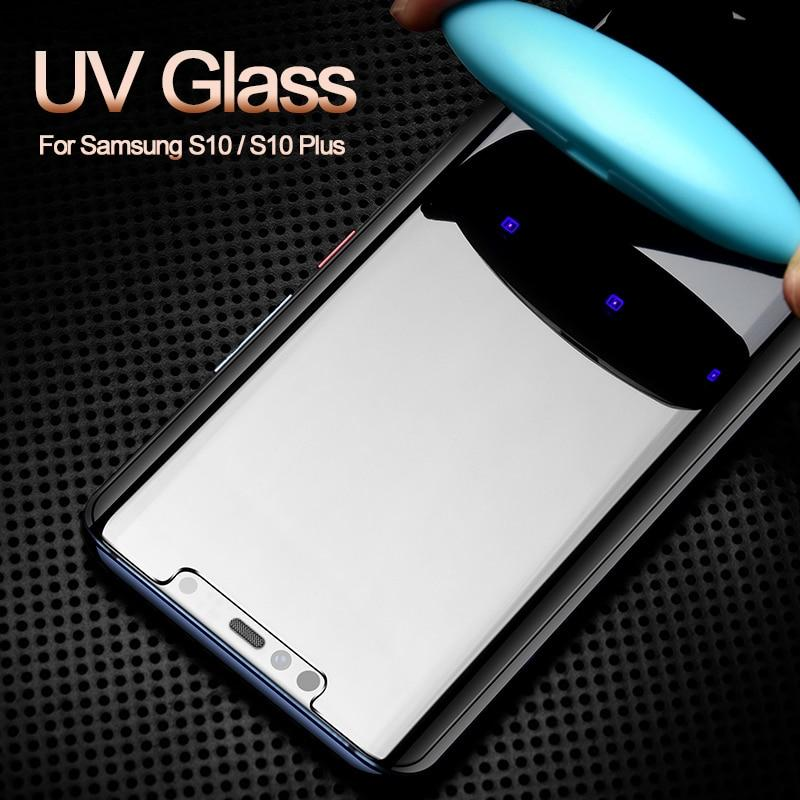 Nano Liquid Screen Protector For Samsung Galaxy S10 Plus Tempered Glass Full UV Glass For Samsung S9 S8 Plus Note 8 9 S7 S6 Edge - Perfenq