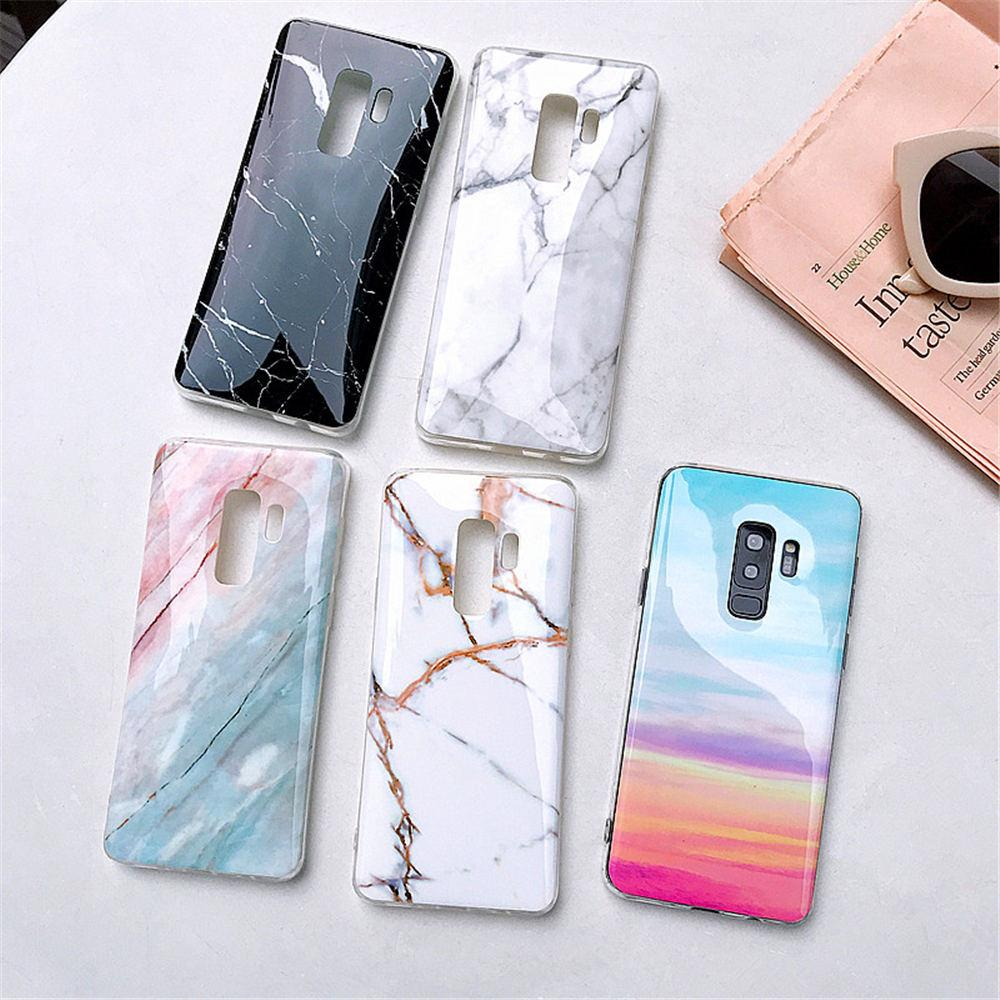 Luxury Marble Phone Case For Samsung Galaxy S10 S10E S9 S8 Plus S7 edge Case Silicone Cover For Samsung Galaxy Note 9 8 Case