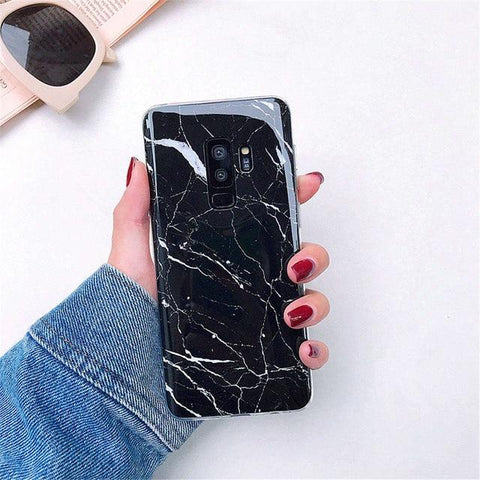 Image of Luxury Marble Phone Case For Samsung Galaxy S10 S10E S9 S8 Plus S7 edge Case Silicone Cover For Samsung Galaxy Note 9 8 Case - Perfenq