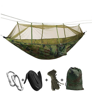 Ultralight Travel Hammock with Integrated Mosquito Net - Perfenq