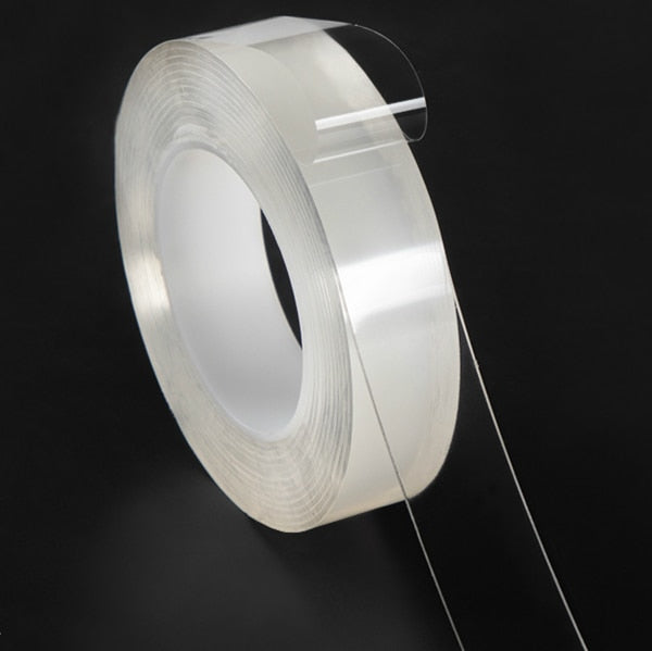 Multi-Functional Nano-Adhesive Residue-Free Transparent Super-Adhesive Tape Roll - Perfenq