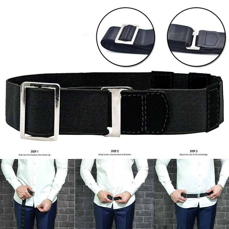 Slunk™ Easy Shirt Stay Adjustable Belt - Perfenq
