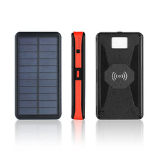 Load image into Gallery viewer, Water-Resistant Solar Wireless Powerbank 20000 mAh - Perfenq
