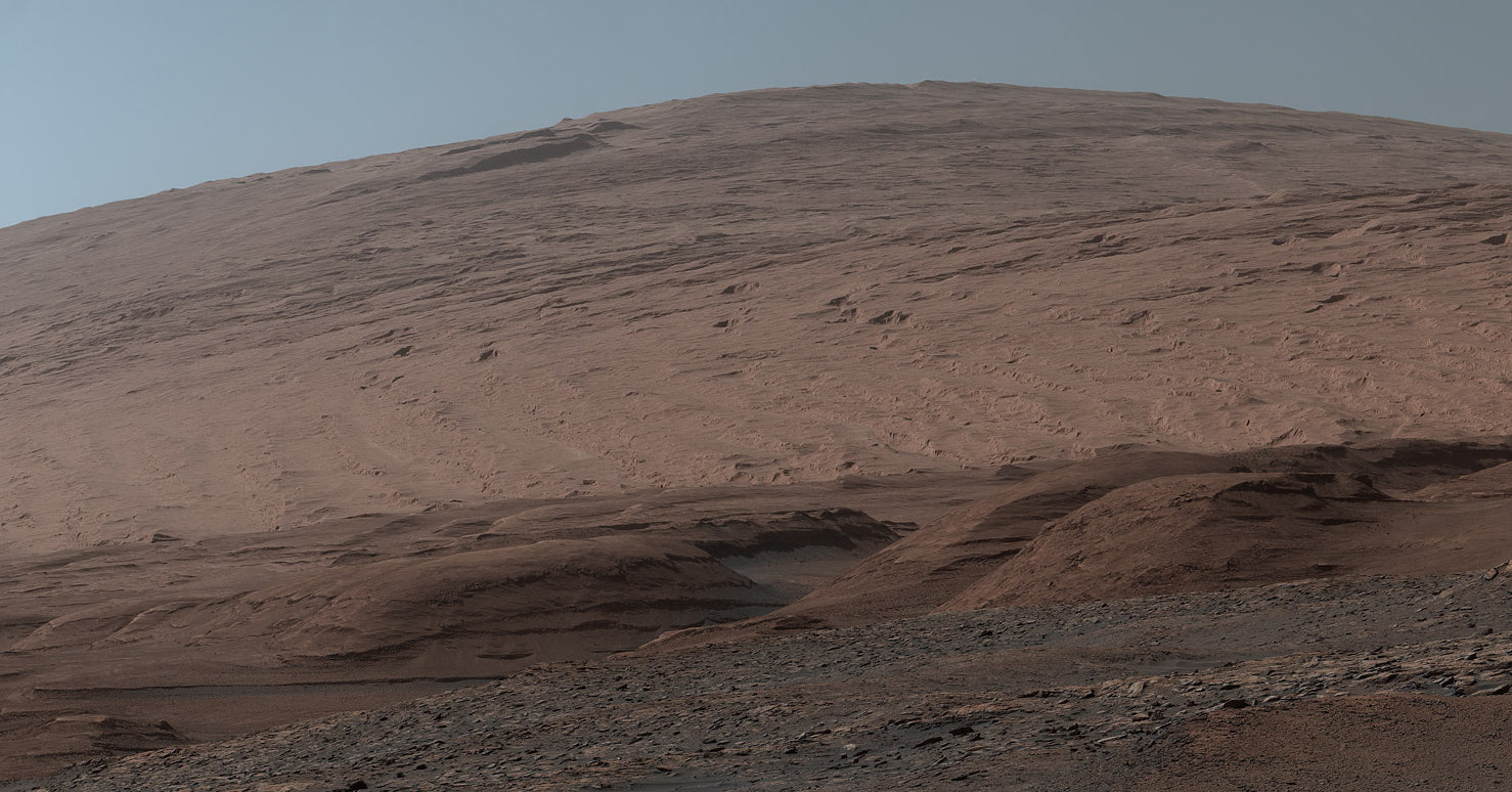 A view from Mount Sharp using the onboard Mastcam camera
