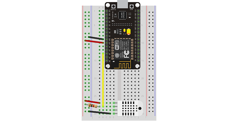 ESP8266 Weather Station Wiring Diagram