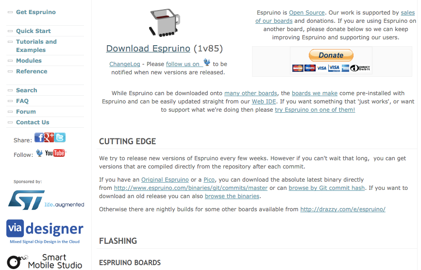 Espruino Firmware Download Page