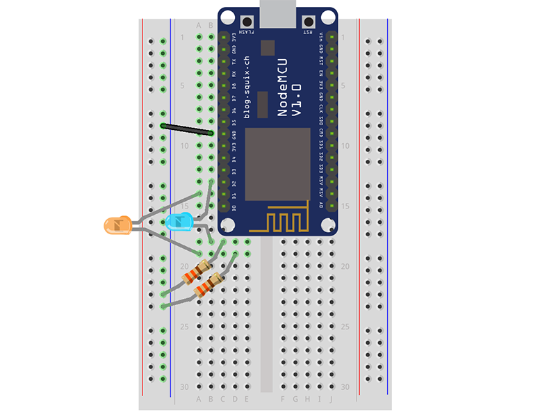 Wiring Diagram for iOS Wireless LED Control with ESP8266