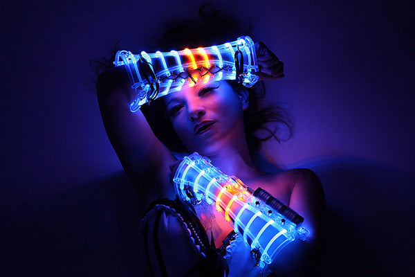 LED costume for professional stage performers, created by the artist Beo Beyond.