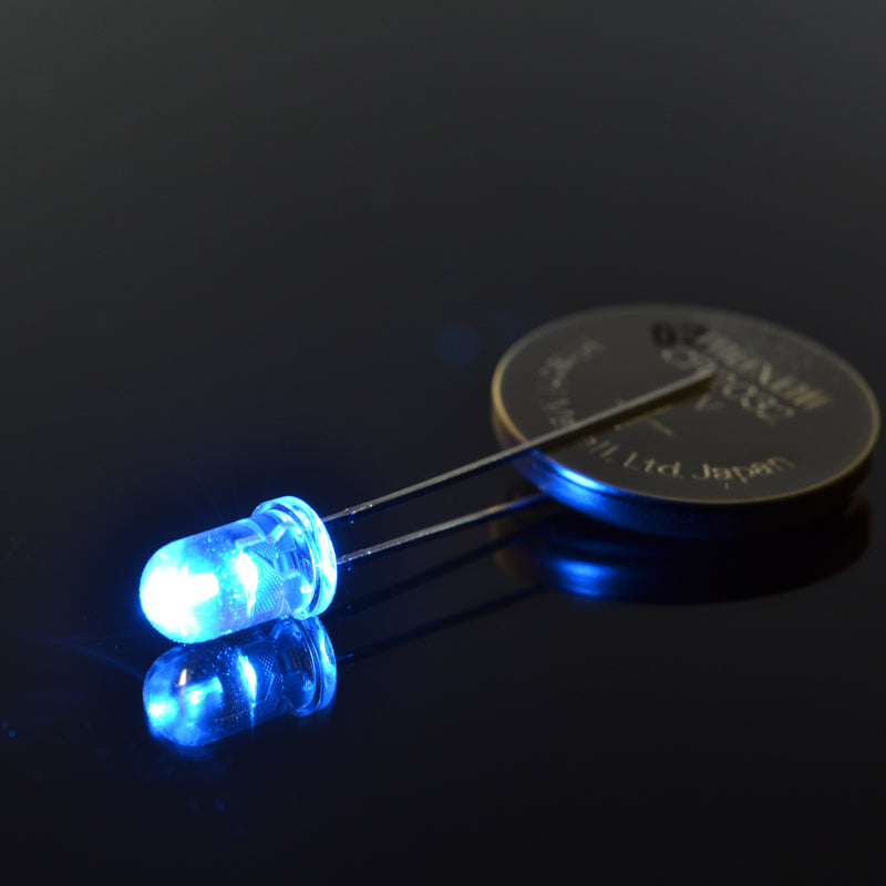 5mm Super Bright Blue LED (11000mcd, 480nm) | 5-Pack
