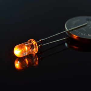 5mm Super Bright Amber LED (13000mcd, 596nm) | 5-Pack