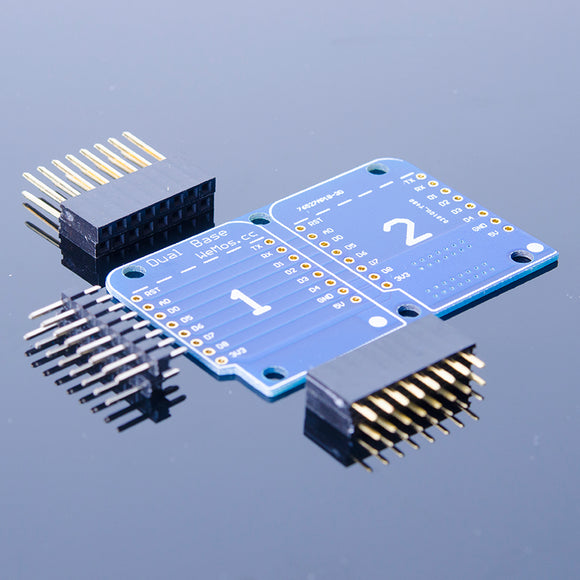 ACROBOTIC ESP8266 WeMos D1 Mini 2×1 Dual Base Board Shield