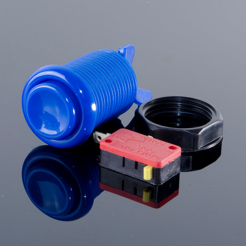 Happ-Style Arcade Button with Microswitch (28mm, Various Colors)
