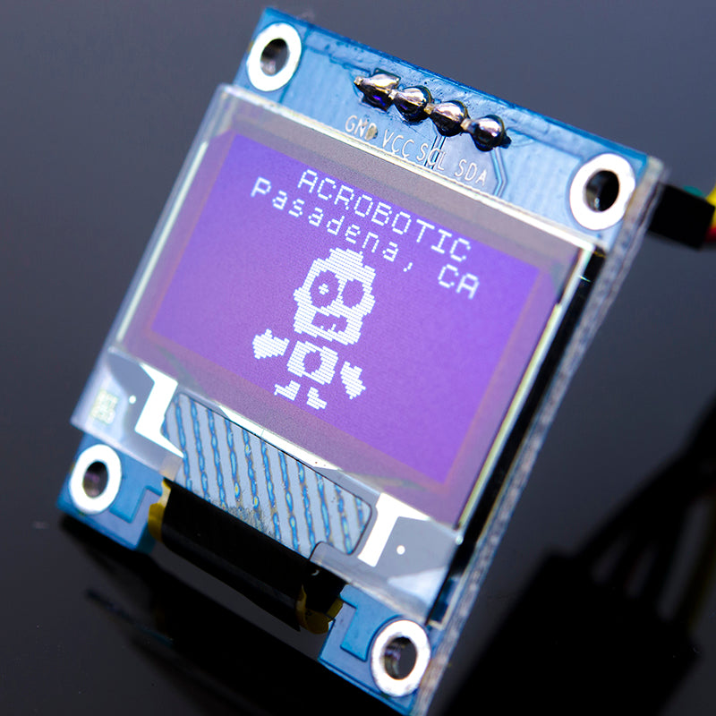 ACROBOTIC 0.96in OLED Graphic Display I2C (SSD1306, 128x64 pixels, White)