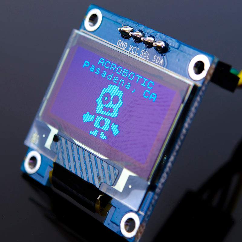ACROBOTIC 0.96in OLED Graphic Display I2C (SSD1306, 128x64 pixels, Blue)