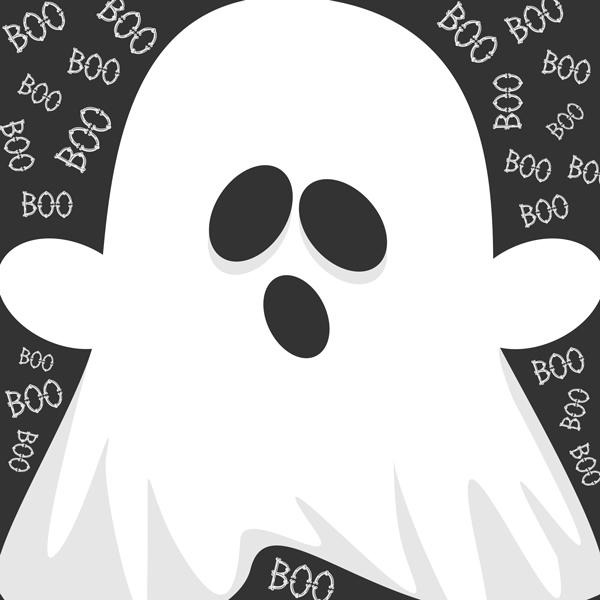 Ghost Halloween Throw Pillow Design for CozyHome Essentials™