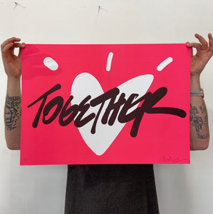 'Together' Fluorescent Pink Limited Edition Print (releasing Wed 6th April at 2pm)