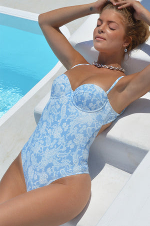 """Byron Bay"" Strapless One-piece Swimsuit"
