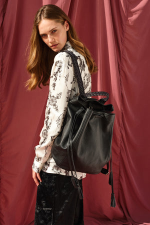 """Callie"" Backpack in Classic Black"