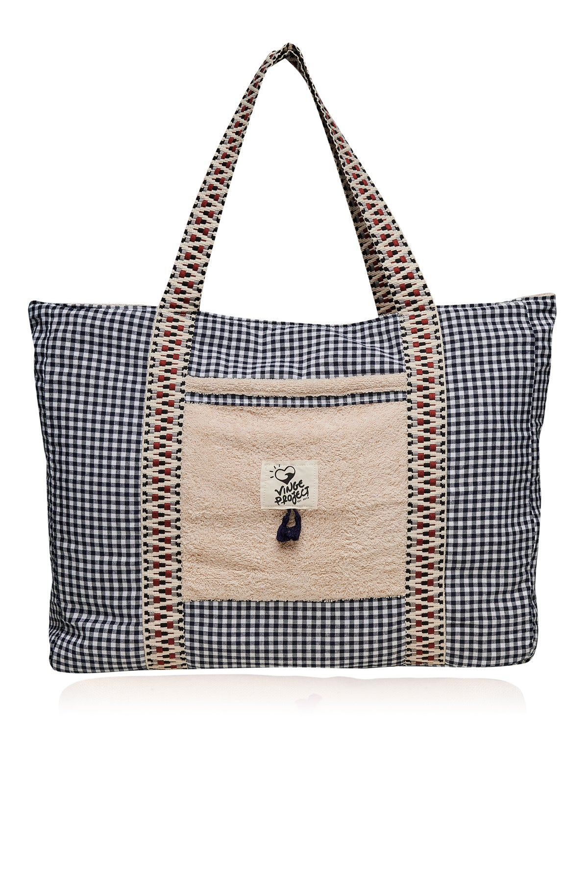 Cycladic in Blue Beach Bag