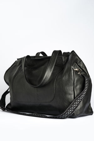 """Athena"" Tote Bag in Classic Black"