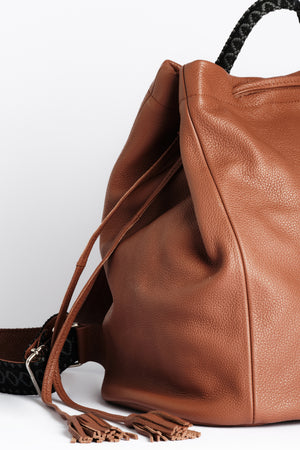 """Callie"" Backpack in Pecan Brown"