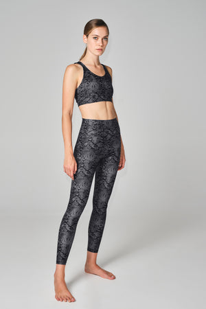 """Lois"" Legging in Grey Python"