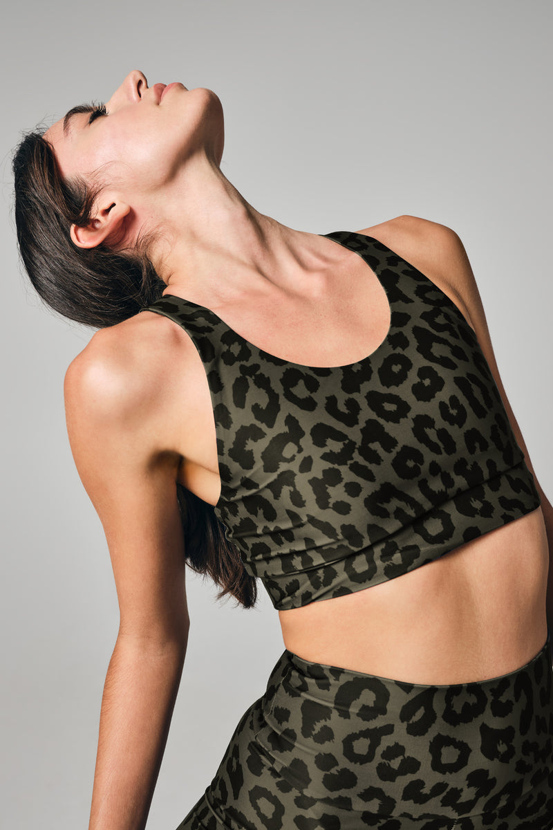 """Lois"" Legging in Khaki Cheetah"