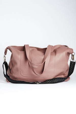 """Athena"" Tote Bag in Dusty Rose"